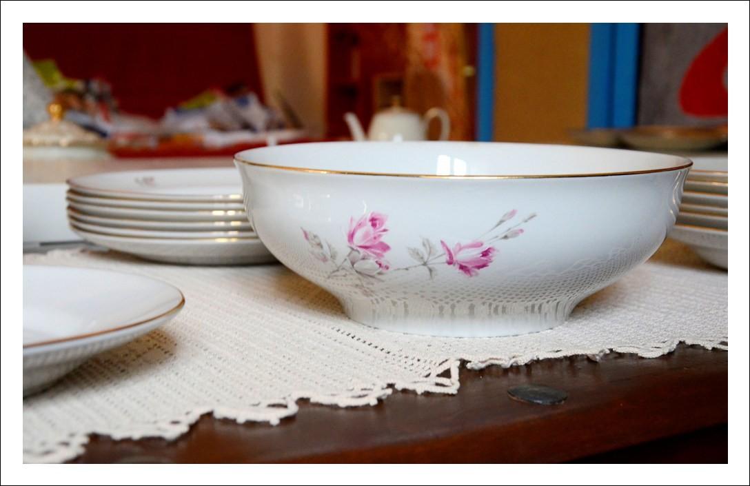 Servizio piatti da sei Richard Ginori dipinto a mano