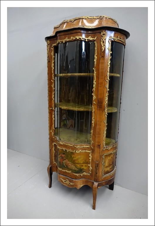 Vetrina cristalliera francese dipinta    0669017