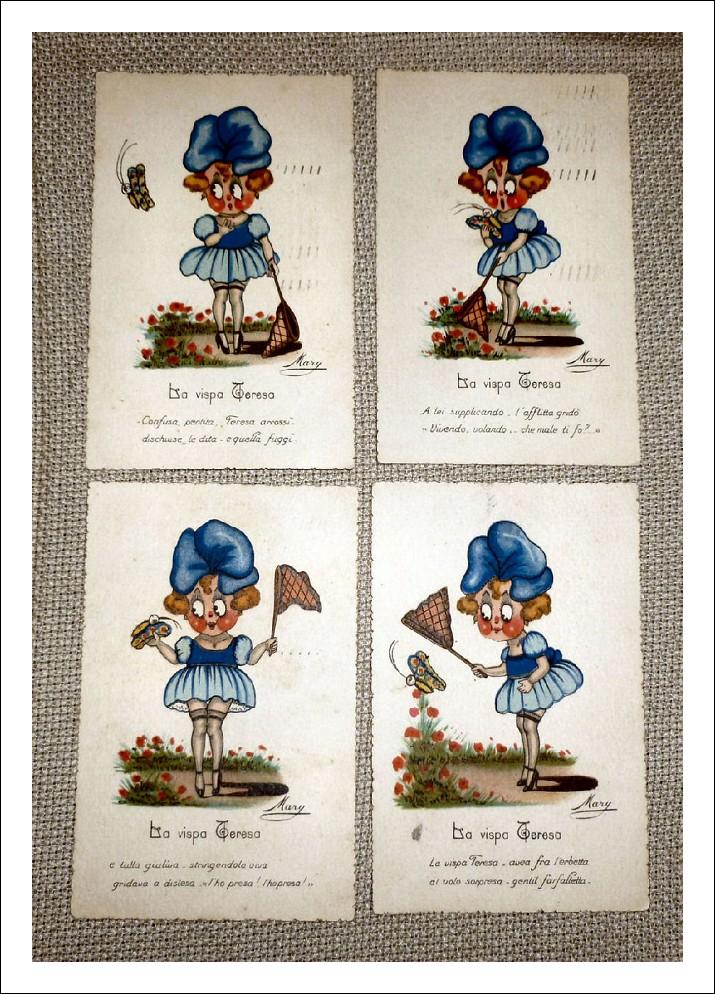 Cartoline epoca 1920 esemplari unici
