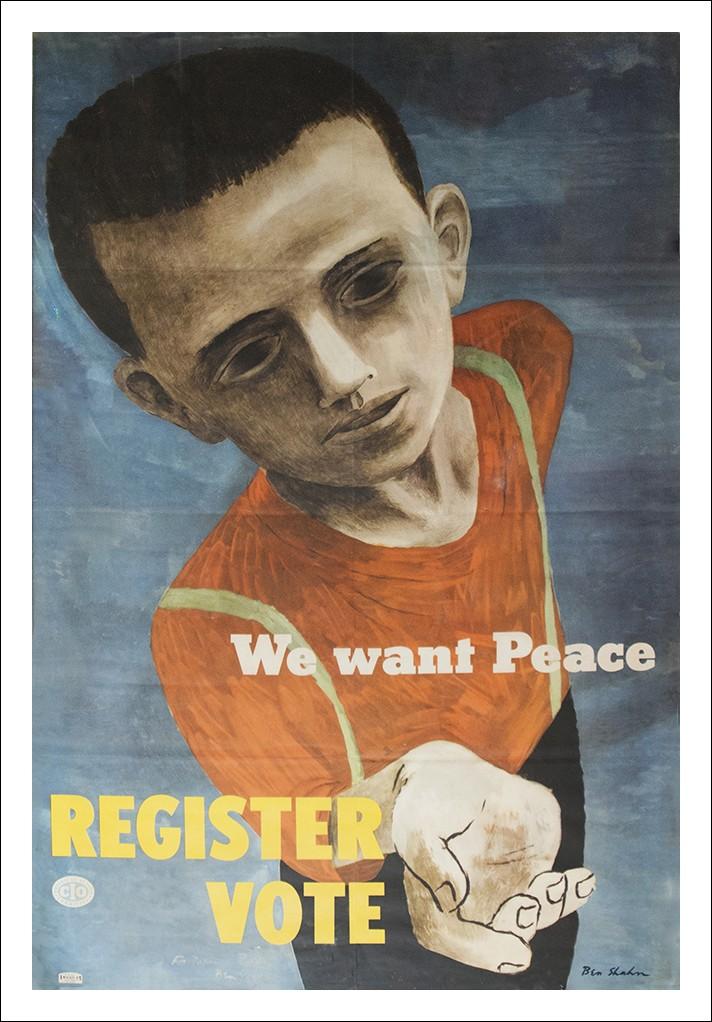 Manifesto vintage pittore Ben Shahn