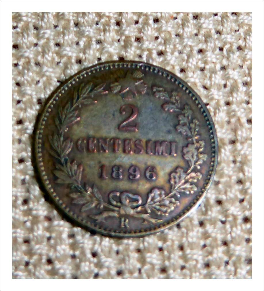 2 centesimi Umberto I° del 1896