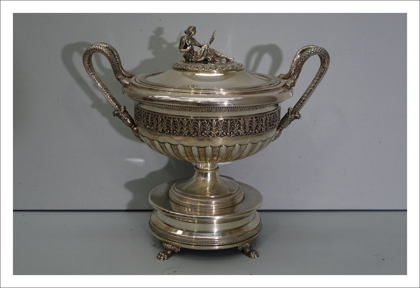 Centrotavola vaso argento punzoni fascio littorio 1932 Milano