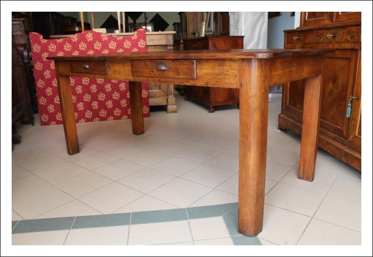 Tavolo toscano Antico primi 900 tavolino antiquariato . Restaurato 2 cassetti