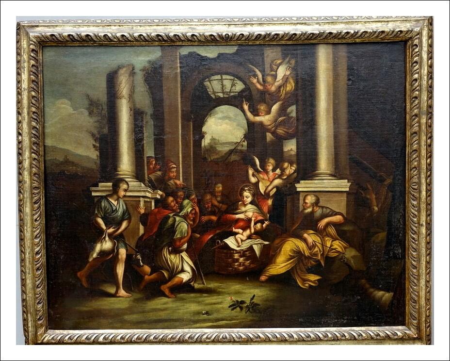 Dipinto olio su tela Polidoro da Caravaggio, epoca 600
