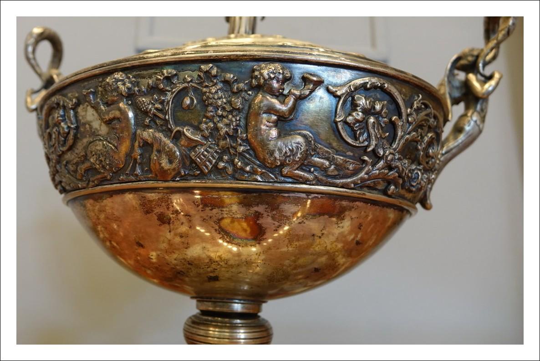 Coppa in argento cesellato punzonato Hanau Germania