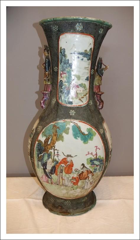vaso giapponese ceramica dipinto a mano arte orientale 0270022