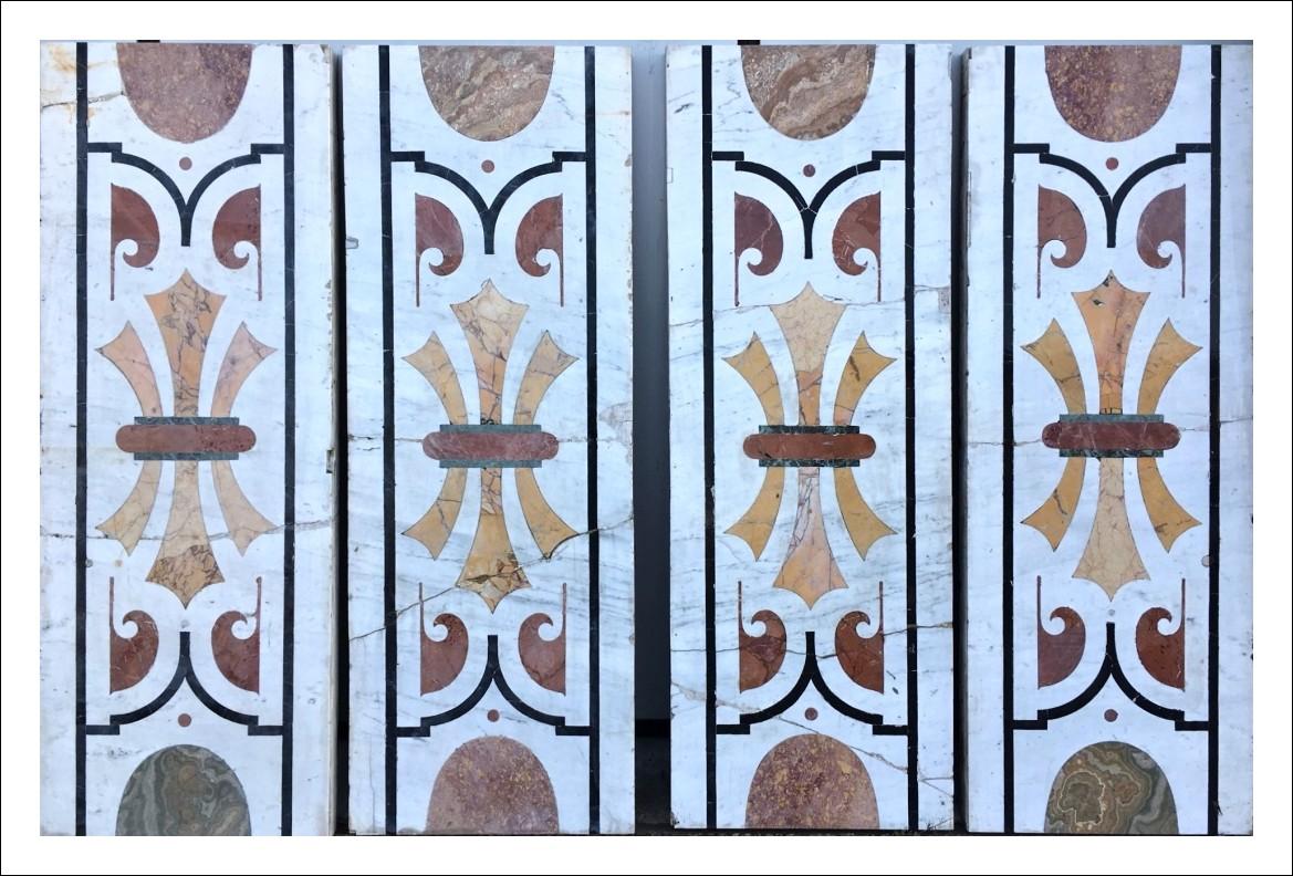 Lastre marmo intarsiato epoca 600 Genovese   0250054