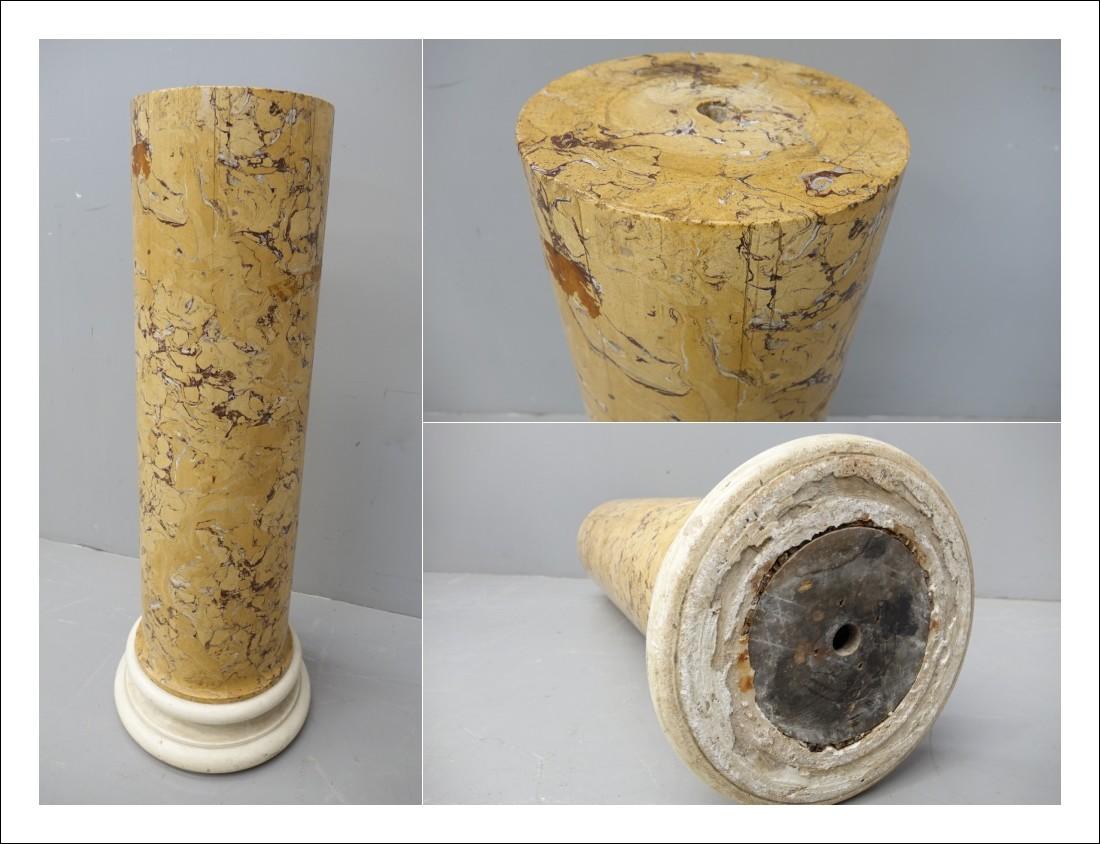 Colonna portavaso marmo terracotta   0170063