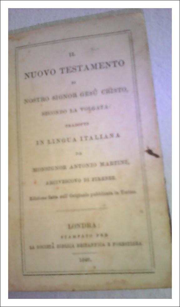 Il nuovo Testamento edizioni Watkins Binder  1846