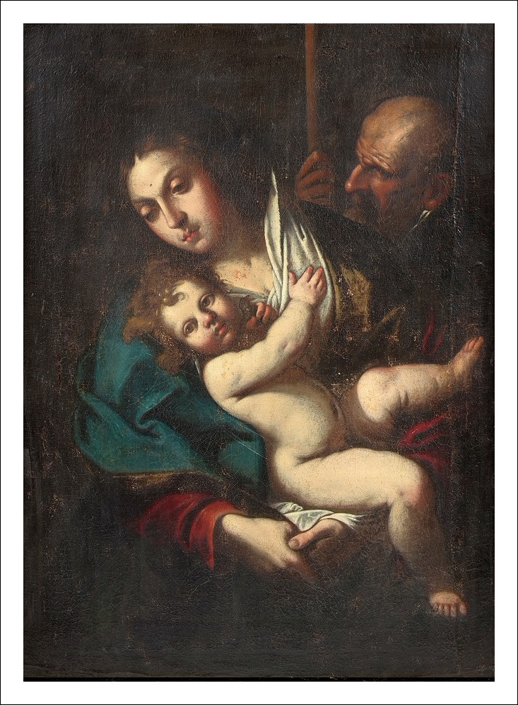 Stupendo Quadro Dipinto Antico 600 Olio tela XVII