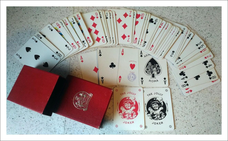 carte da gioco ARMANINO  50 cent. sovrastampata da lire 250