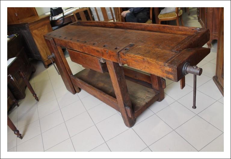 Antico Banco da lavoro, falegname Umbro restaurato epoca 800! Con morse. Antiquariato
