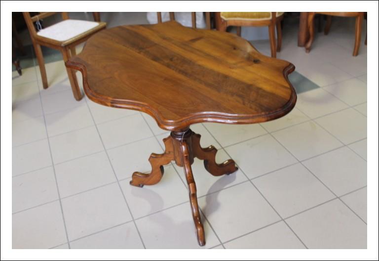Tavolino da salotto - fumo a Biscotto, Gueridon epoca Luigi Filippo fine 800 . Restaurato Antico An