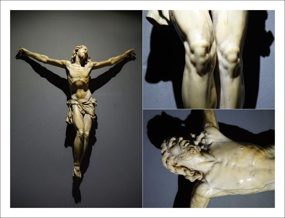 Cristo in avorio epoca barocca Bissoni