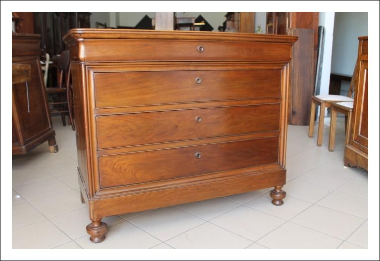 Comò cassettone Lombardo Cappuccino noce massello 1860 cassettiera !Antico Antiquariato