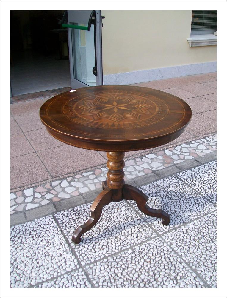 Rollino,tavolino tondo emiliano fine 800   80x80x75h