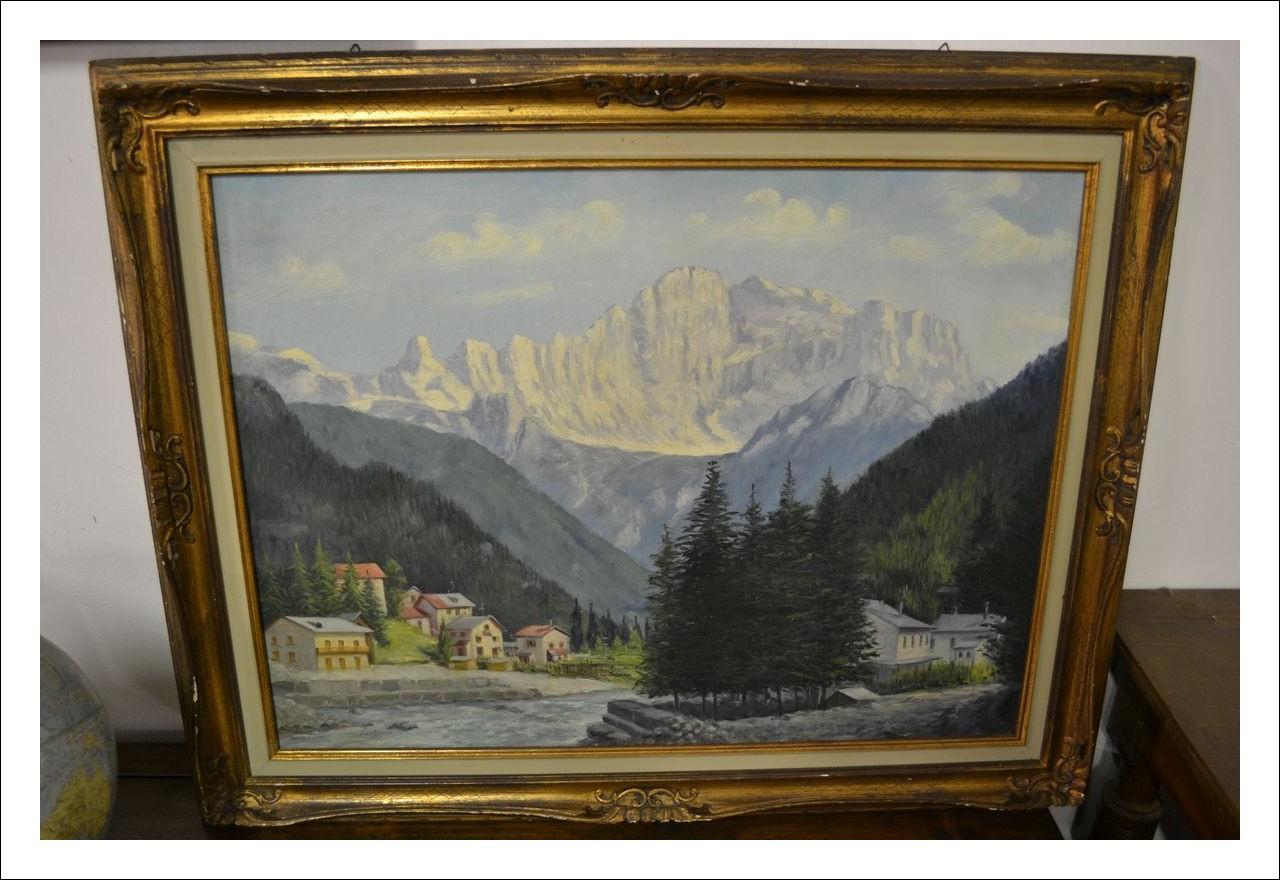 Dipinto montagna dolomiti