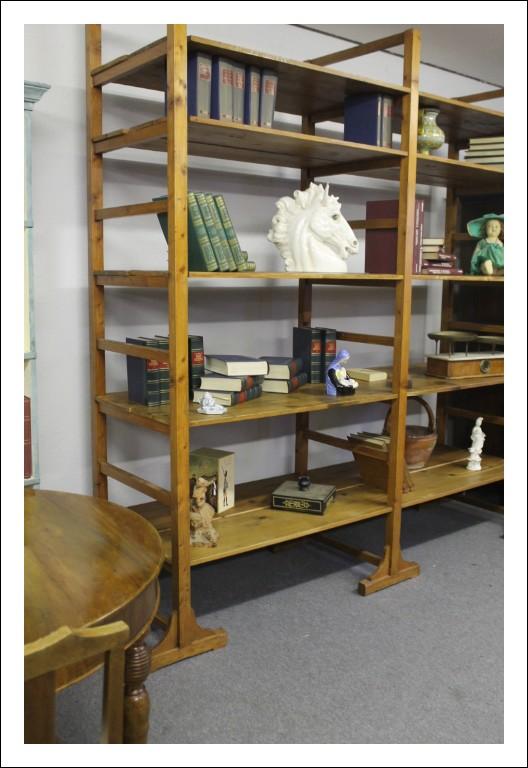Antica libreria scaffalatura anni 30 del 900 industriale Vintage! Cabina armadio A giorno restaurat