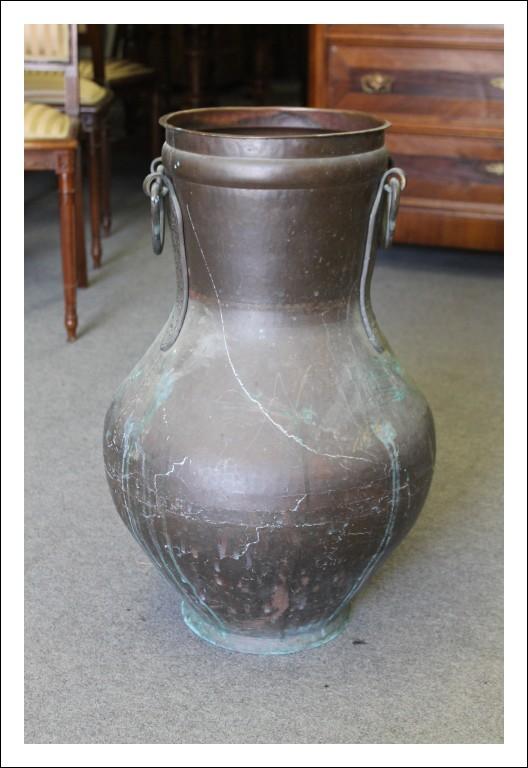 Vaso Antico rame, portaombrelli fine 800 . Cesellato a mano Antiquariato