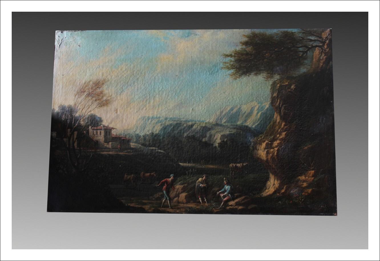 Dipinto olio su tela Veneto del XVIII sec.