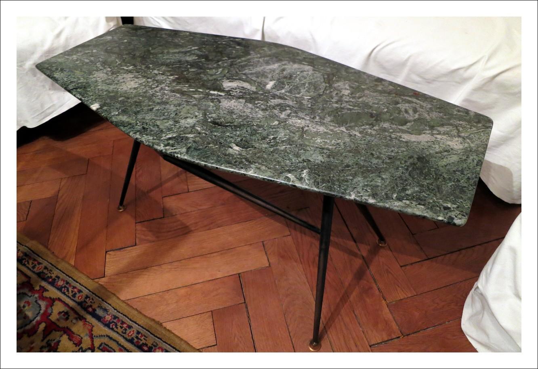 Tavolino vintage in marmo verde primi anni 60