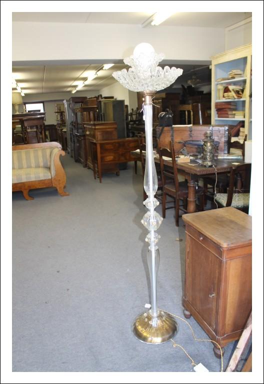 Lampada da terra di Murano anni 50, Venezia Design rifiniture in Oro, funzionante !Vintage