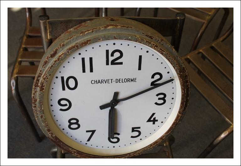 Orologio industriale CHARVET DELORME francese periodo art deco anni 40-50 in ferro vintage! design