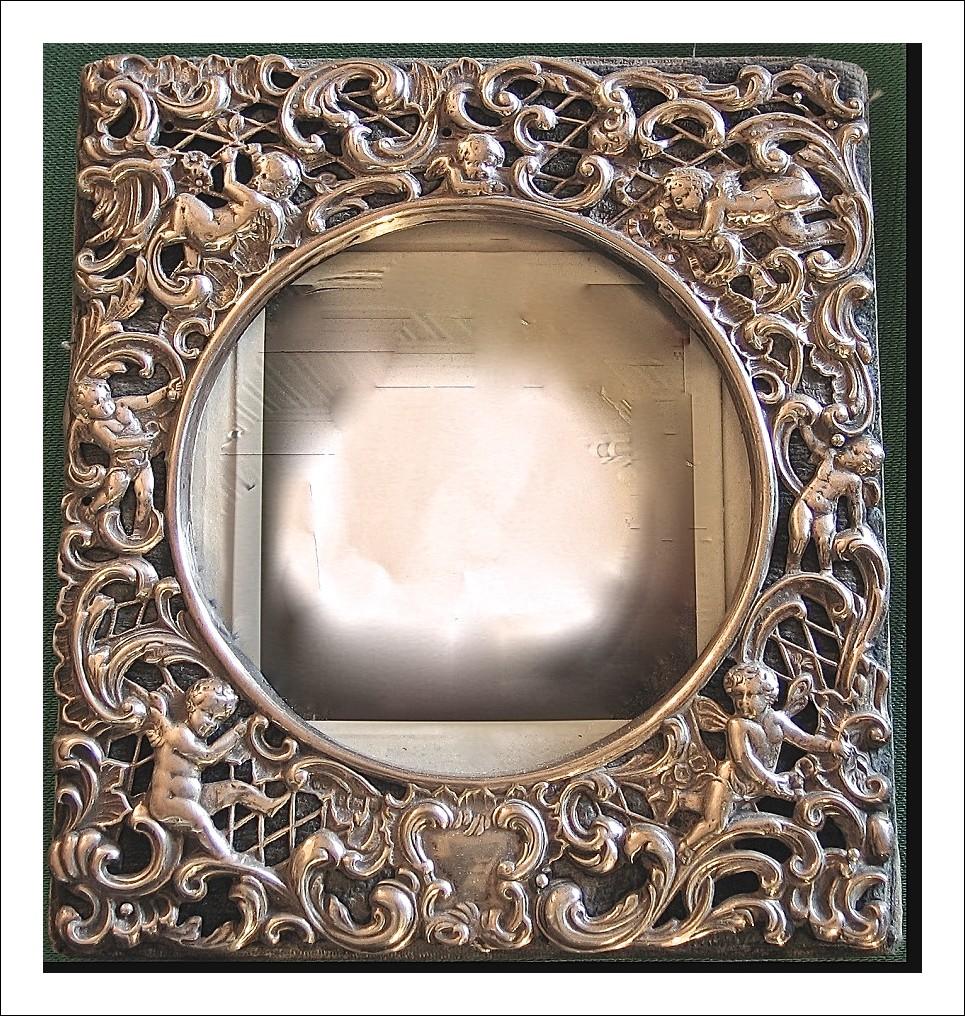 Bellissima cornice edoardiana in argento 925