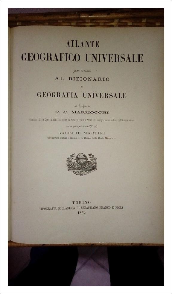 Atlante Geografico Universale del 1862