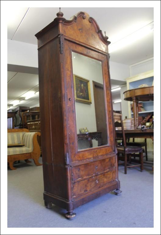 Antico armadio con specchio  Luigi Filippo in noce , epoca Luigi Filippo vis a vis! Da eredità