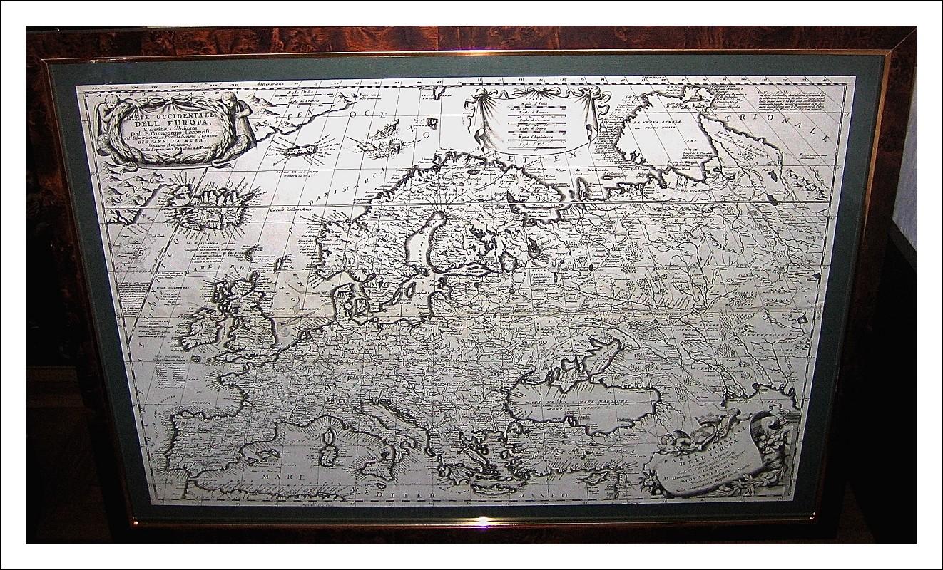 Vincenzo Maria Coronelli (1650 - 1718). EUROPA: PARTE OCCIDENTALE ED ORIENTALE.