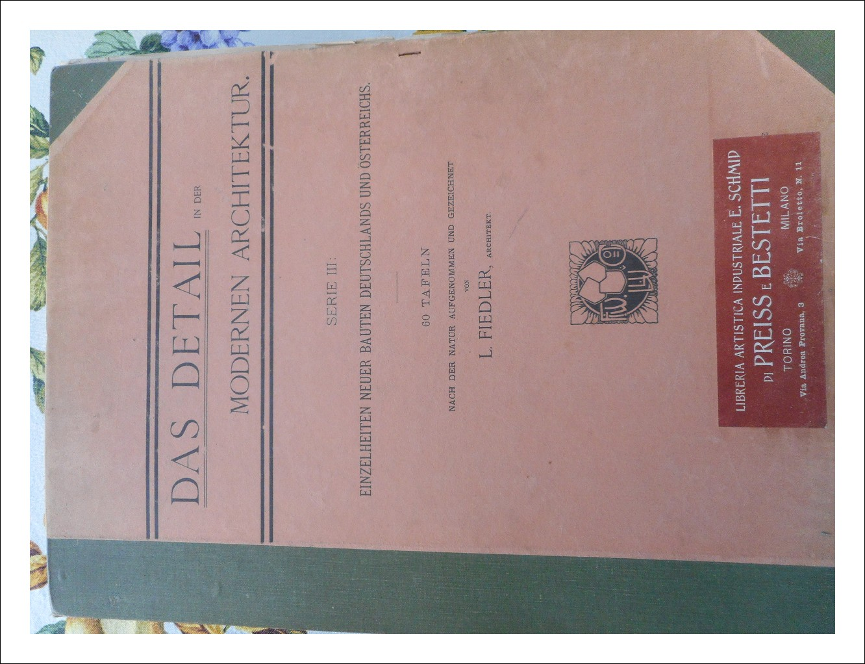 Libro antico.Architettura.L. Fiedler