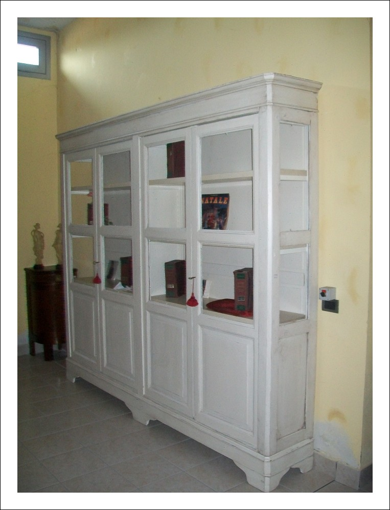 Libreria ,farmacia epoca 800 lombarda shabby    268lx236hx42p
