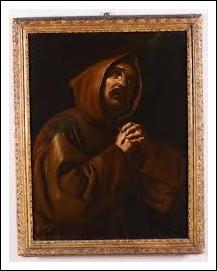 Dipinto antico San Francesco orante XVII secolo