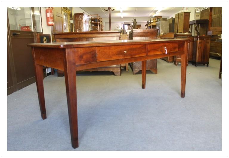 Tavolo Luigi Xvi fine 700 in noce massello restaurato, tavolino 2 cassetti Toscano . Antico Antiqua
