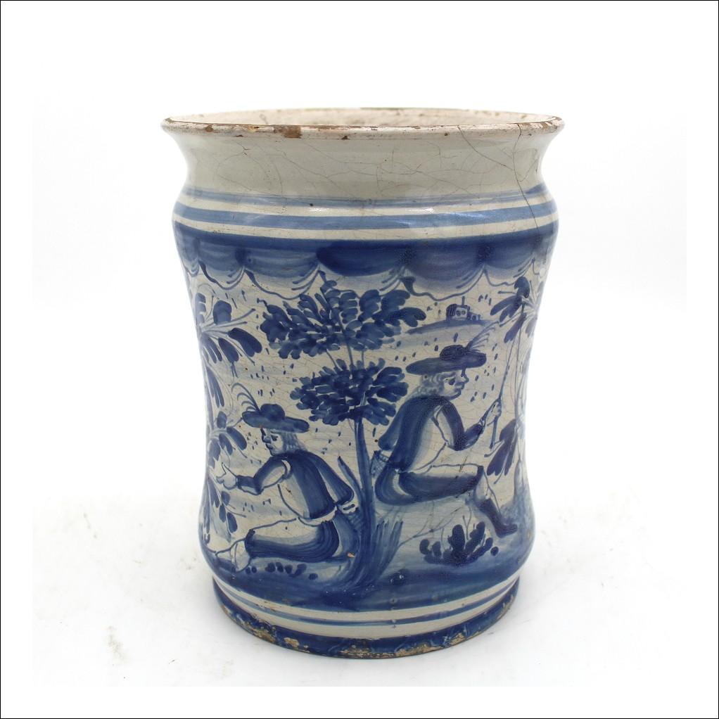 Antico Albarello in Maiolica Vaso farmacia ceramica Sassuolo Dallari - Italia epoca 700