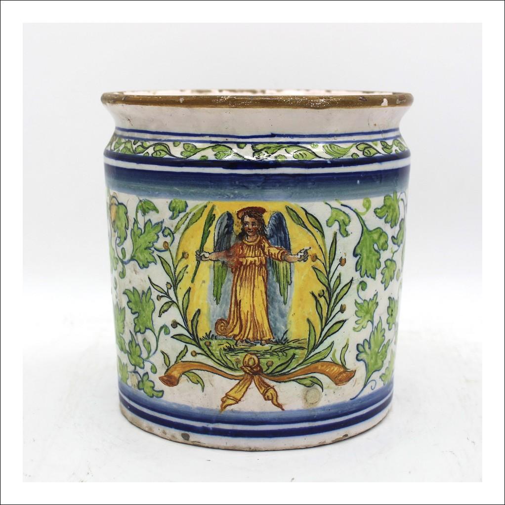 Antico Vaso farmacia in Maiolica Albarello ceramica Sassuolo Dallari - Italia epoca 700