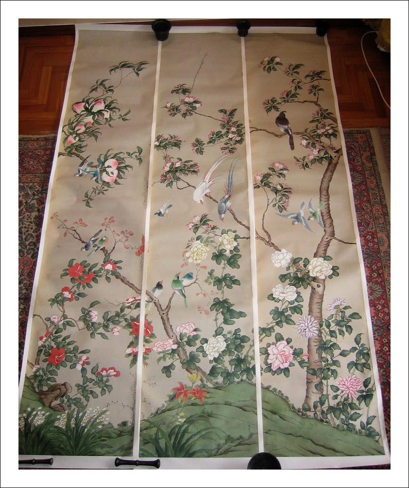 Scroll ( sei ) Cina, Dinastia Quing. Formano un unico paesaggio. XVIII-xix secolo.