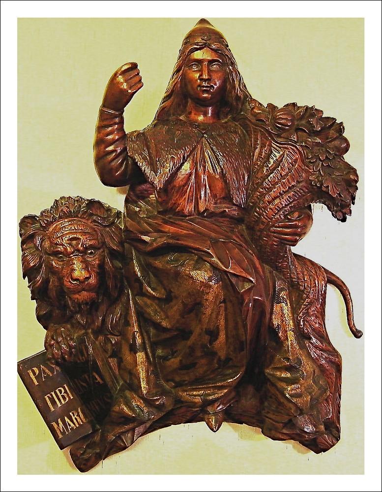 Catarina Corner, Regina di Cipro. Scultura unica. Sfido altri possessori.