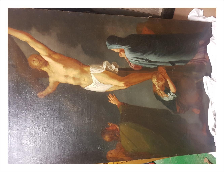 Olio su tela, Crocifissione XVII-XVIII