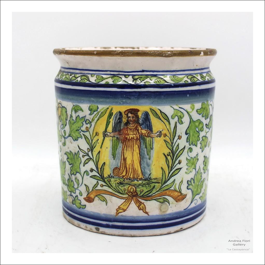 Antico Vaso farmacia in Maiolica Albarello ceramica Sassuolo Dallari - Italia epoca XVIII secolo