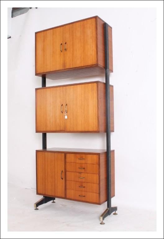 Libreria Svedese anni 50 , originale Milano- Modernariato vintage 3 moduli restaurata.  Prezzo Affa
