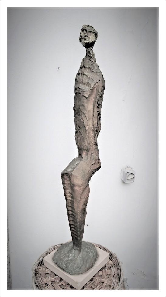 statua bronzo realizzata da artista Franco Lorito seconda metà del 900