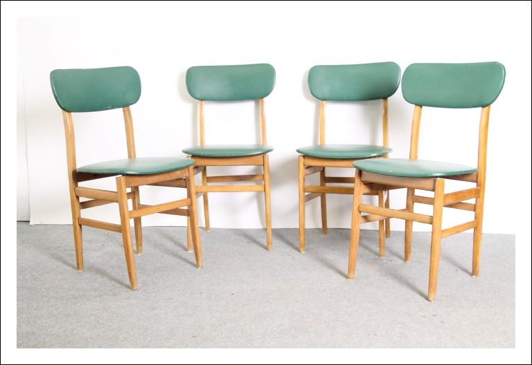 Gruppo sedie modernariato anni 50 in Sky verde, buon stato modernariato Vintage ! Svedese .Stile Ic