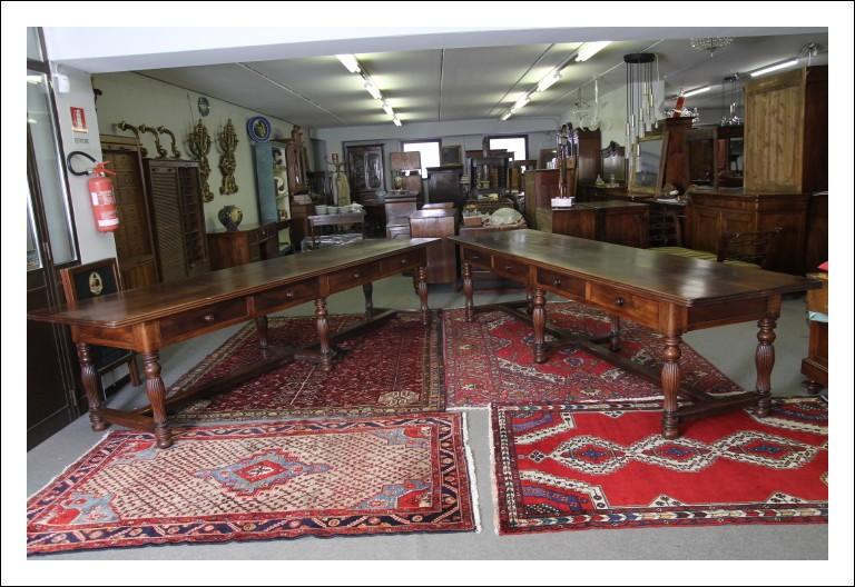 Strepitosa coppia di Antichi tavoli Fratini metà 800. 3,50 metri. Piemonte Antiquariato .
