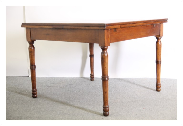 Antico tavolo a tiro allungabile toscano epoca XIX sec . restaurato Luigi Filippo arte povera.