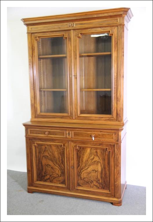 Antica Libreria Noce Luigi Filippo  -Parigi - 1860. Vetrina Cristalliera. Antiquariato restaurata.
