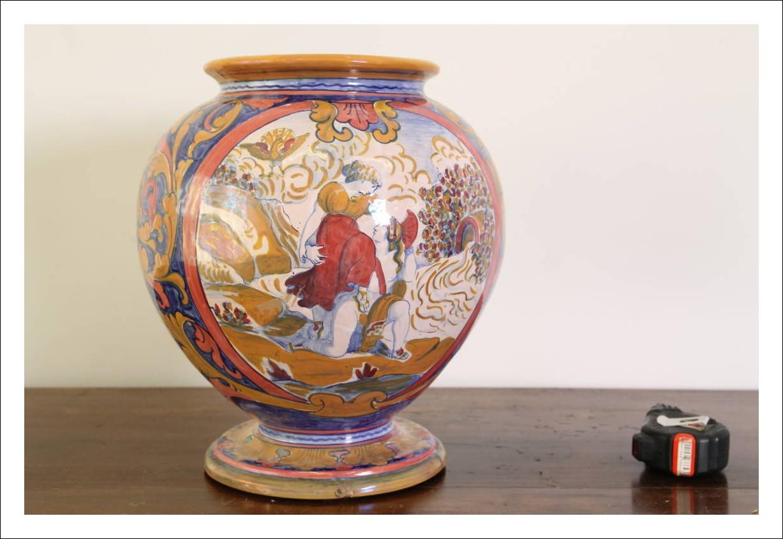 Antica vaso a Boccia Lustro primi 900 Gualdo Tadino prof Santarelli Alfredo. Pezzo straordinario ma