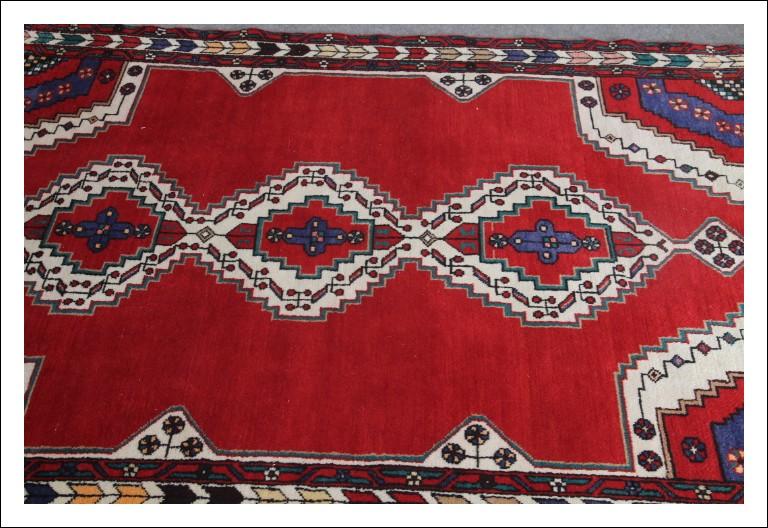 """Tappeto persiano """"Musel """" epoca 900 annodato a mano in lana . Cm 203 x cm 142 . Ottimo stato Eccelle"""