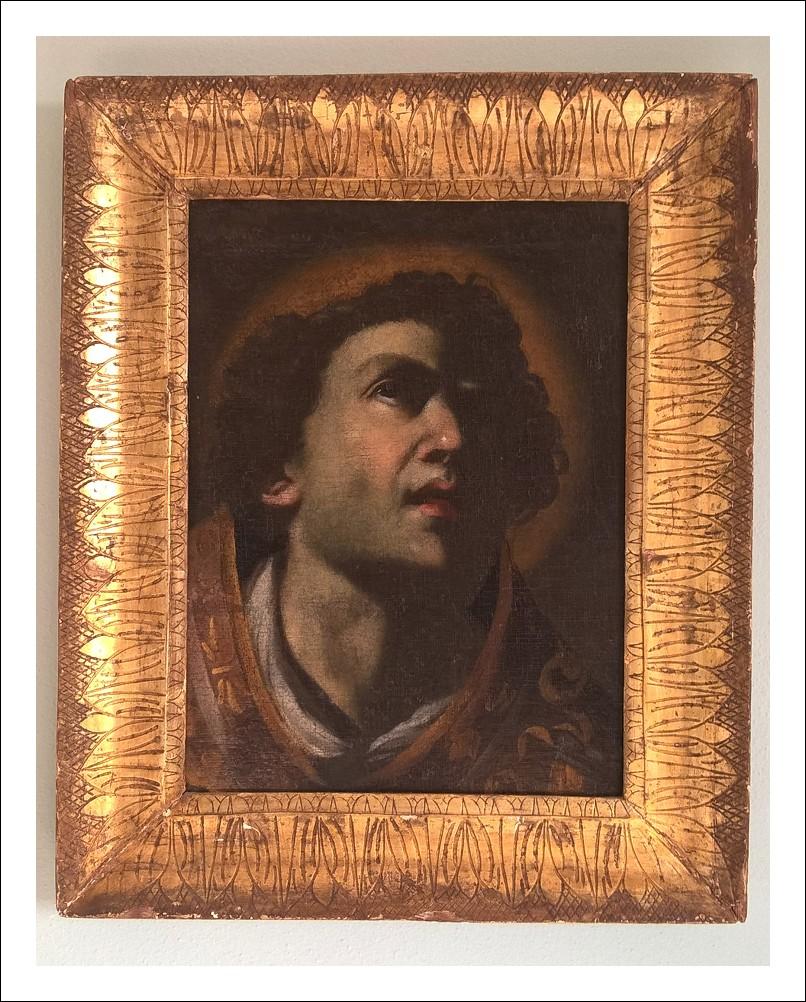 Dipinto Santo in meditazione scuola napoletana XVII secolo